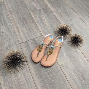 Carlos by Carlos Santana pineapple gem sandal